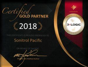 3xLogic Gold Partner Certificate