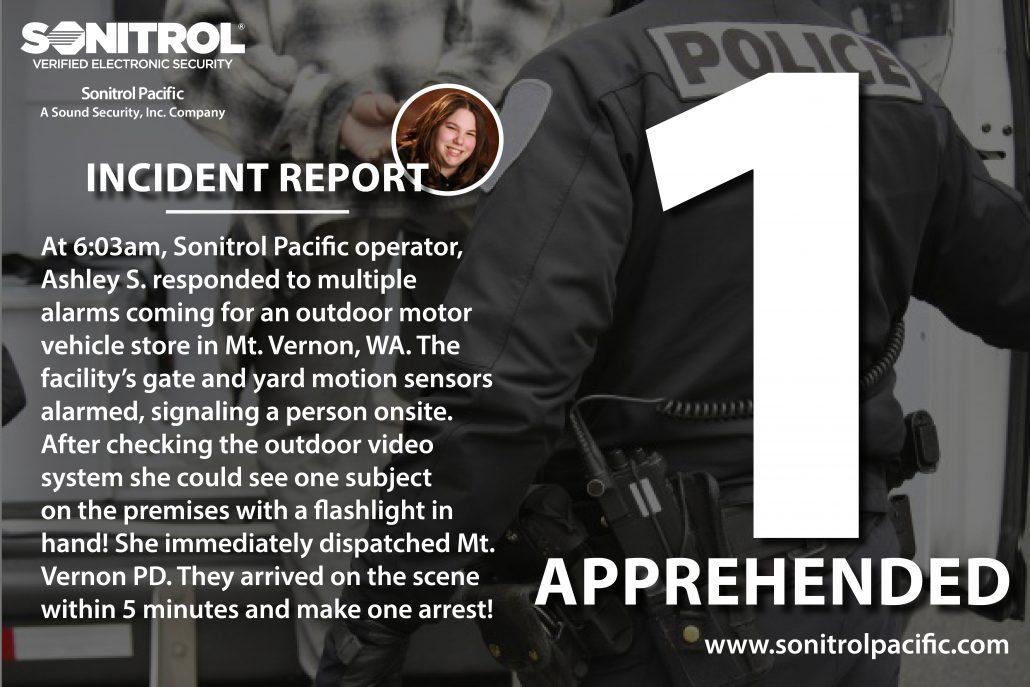 Sonitrol Pacific - 2.6.18 - 1 Apprehended